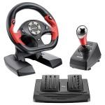 Volante GT Shift Compatível com PS2, PS3 e PC JS050 - DUAL SHOCK - 11 BOTÕES - MULTILASER